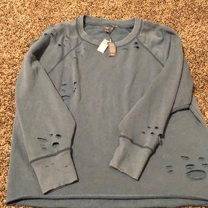 Distressed Aerie oversized sweatshirt